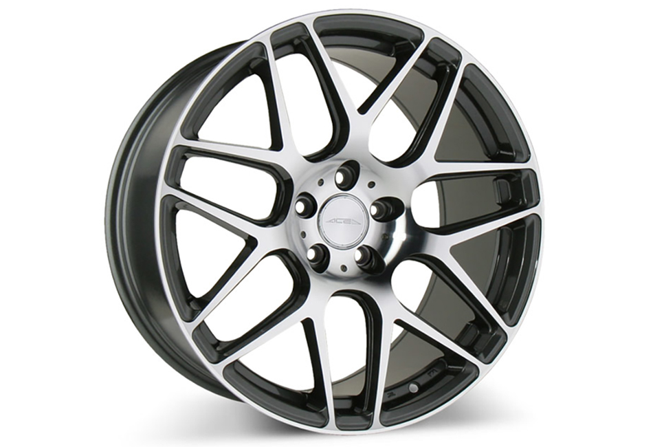 Ace Alloy Mesh-7 Mica Grey Machined Wheel 20x10 (05-19)