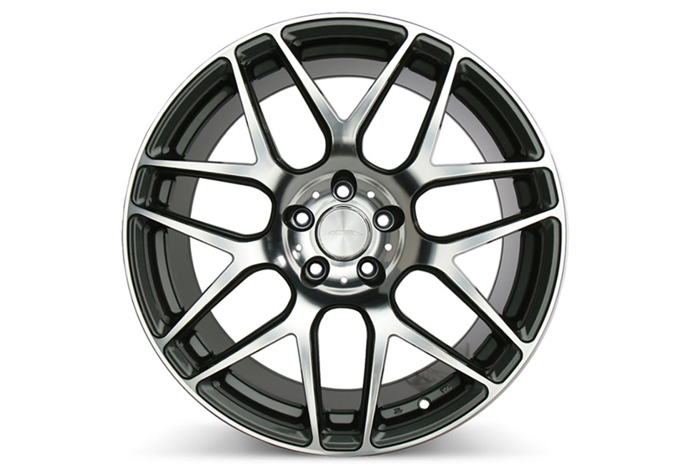 Ace Alloy Mesh-7 Mica Grey Machined Wheel 19x10 (05-19)