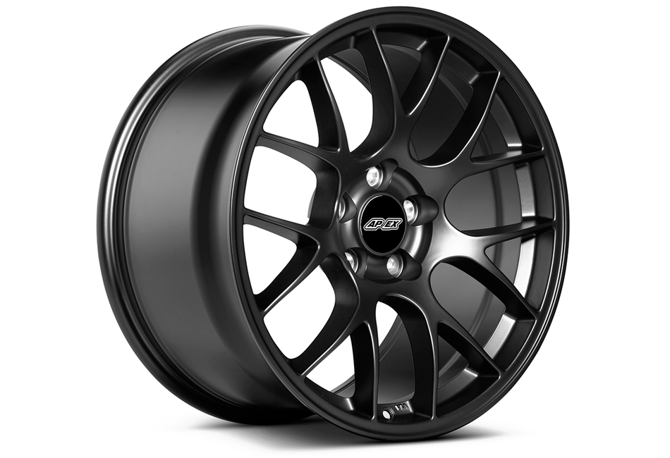 APEX EC-7 19x11 ET52 Mustang Satin Black Wheel (05-17)