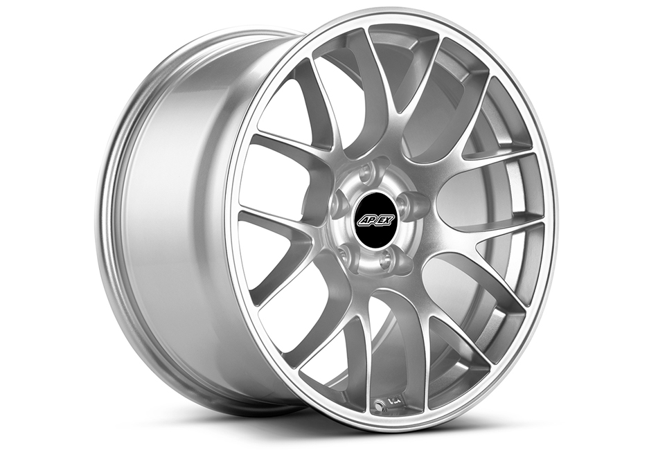 APEX EC-7 18x9.5 ET35 Mustang Race Silver Wheel (05-19)