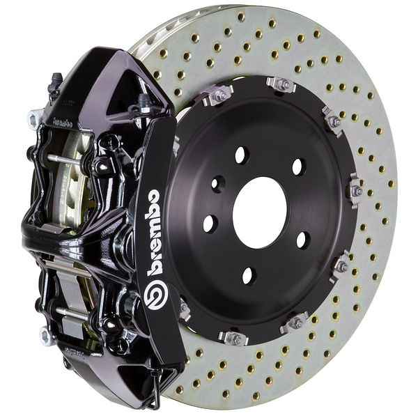 Brembo GT Drilled Mustang Front Brake Kit Black (2015-2021)