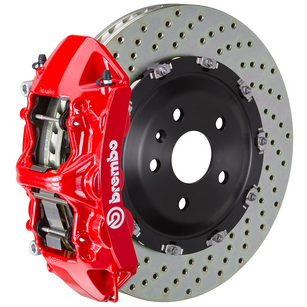 Brembo GT Drilled Mustang Front Brake Kit Red (2015-2021)