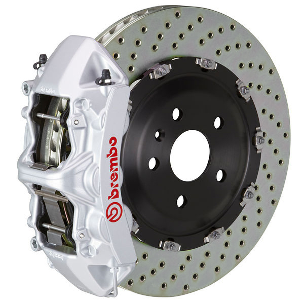 Brembo GT Drilled Mustang Front Brake Kit Silver (2015-2021)