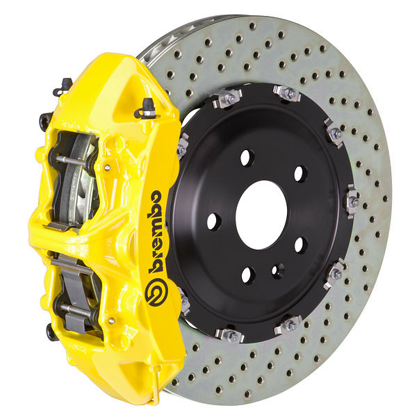 Brembo GT Drilled Mustang Front Brake Kit Yellow (2015-2021)