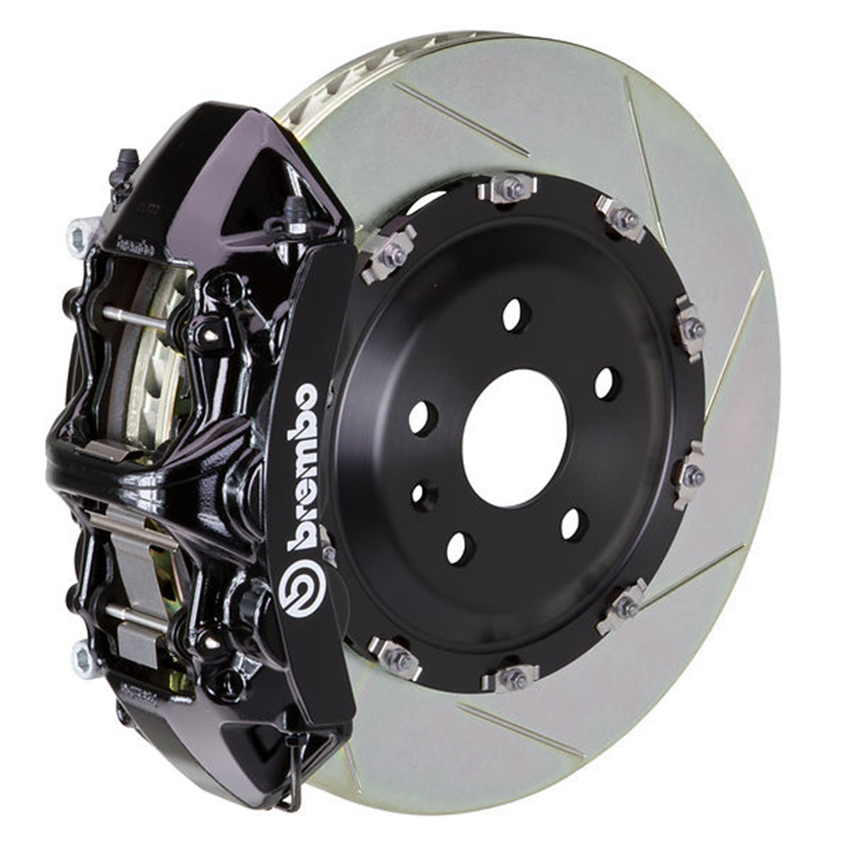 Brembo GT Slotted Mustang Front Brake Kit Black (2015-2021)