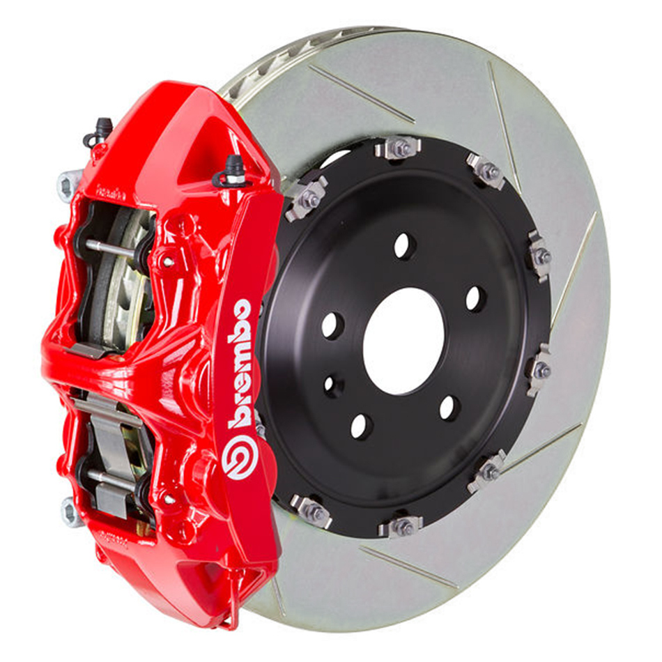 Brembo GT Slotted Mustang Front Brake Kit Red (2015-2021)