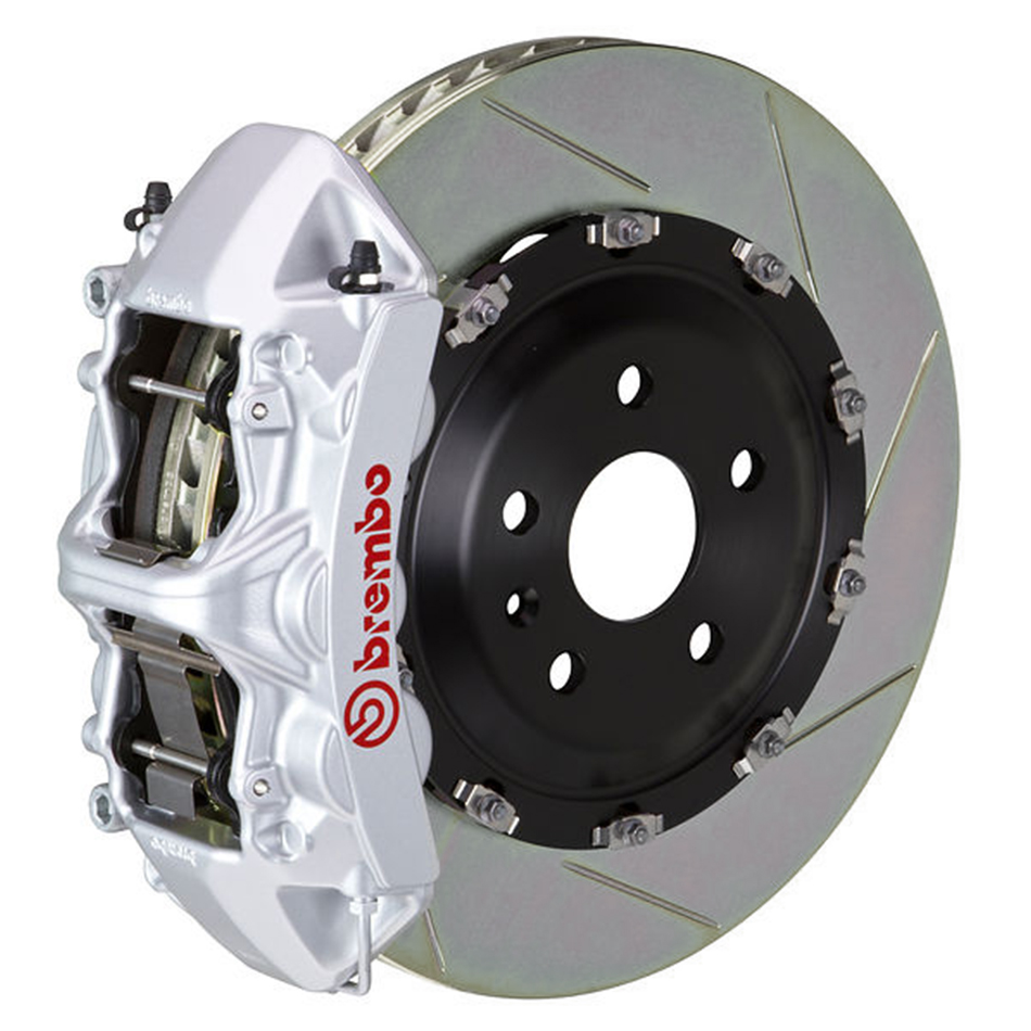 Brembo GT Slotted Mustang Front Brake Kit Silver (2015-2020)
