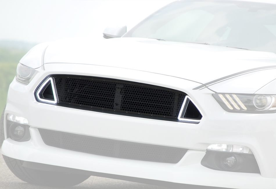 Classic Design Concepts Mustang Outlaw LED Switchback Upper Grille (15-17)
