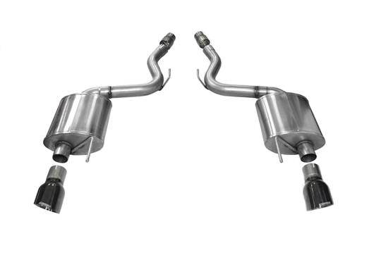Corsa Mustang GT Touring Axle-Back Exhaust - Black Tips (2015-2017)