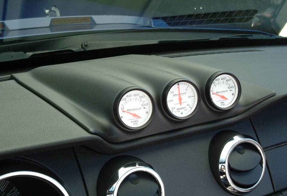 Ford Fusion Parts >> Classic Design Concepts Mustang Triple Gauge Dash Pod (05-09 All), 067 110140 - Steeda