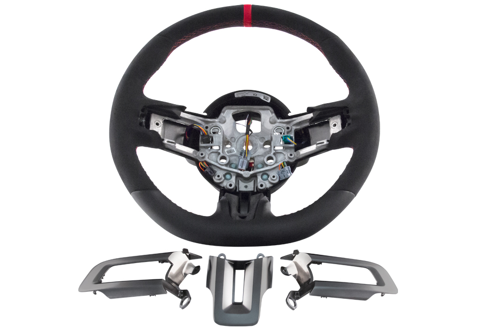 Ford Performance Mustang GT350R Steering Wheel Leather and Alcantara (15-17 GT/EcoBoost)