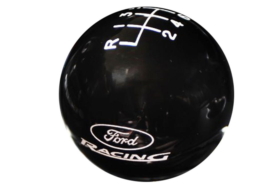 Ford Racing Mustang 6-Speed Black Shift Knob (2015-2021)