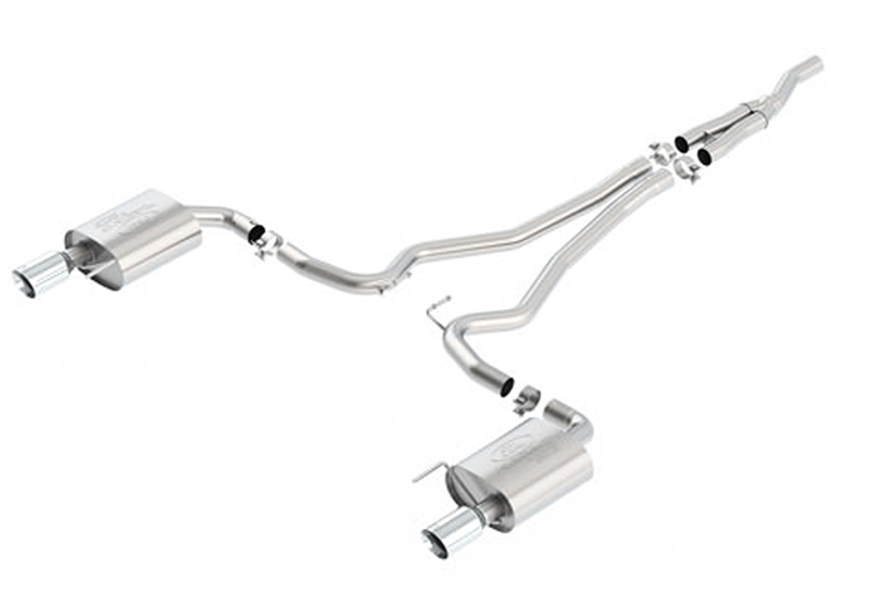 Ford Performance Sport Catback Mustang Exhaust-Chrome Tips (2015)