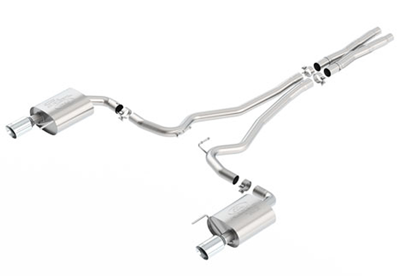 Ford Performance Touring Catback Mustang Exhaust-Chrome Tips (2015)