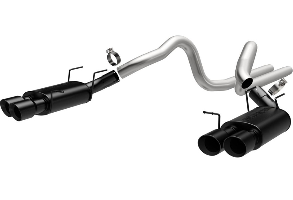 MagnaFlow Mustang GT500 Street Cat-Back Exhaust w/ Black Quad Tips (2013-2014)