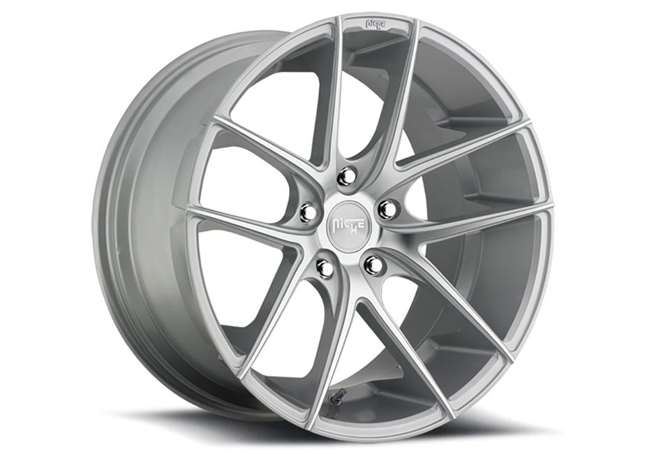 Niche Sport Targa Silver Machined Mustang Wheel 20x10 (2005-2021)
