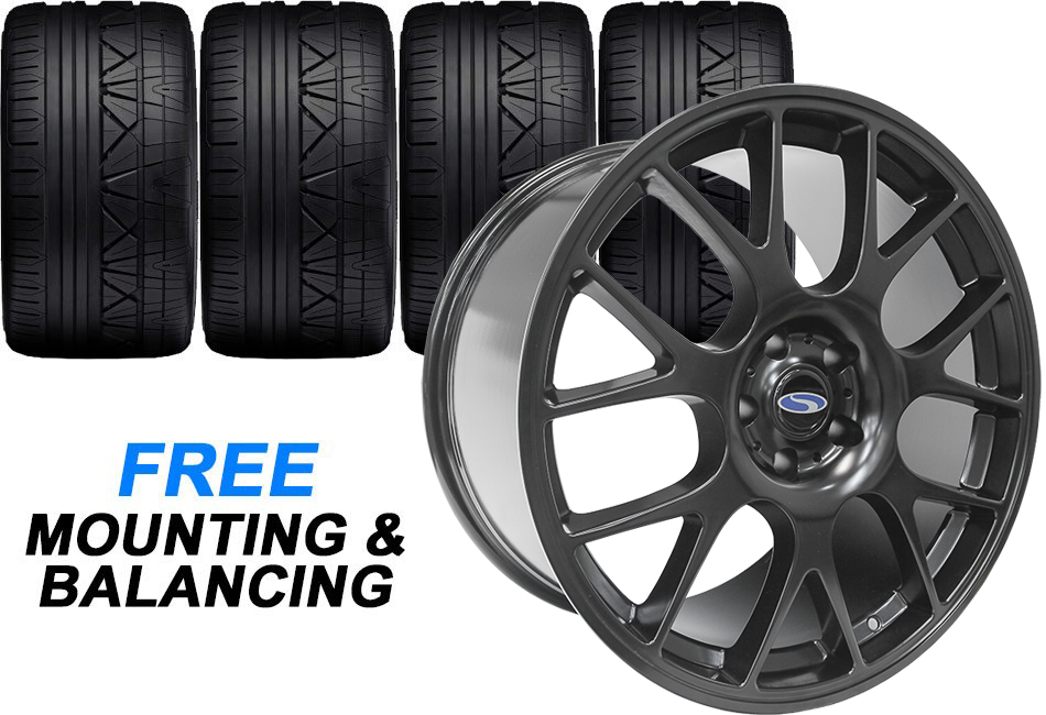Steeda 20 Quot St R Black Mustang Staggered Wheel Amp Tire Combo