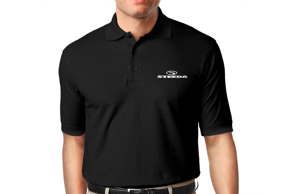 Steeda ClimaLite Short-Sleeve Golf Polo, Black