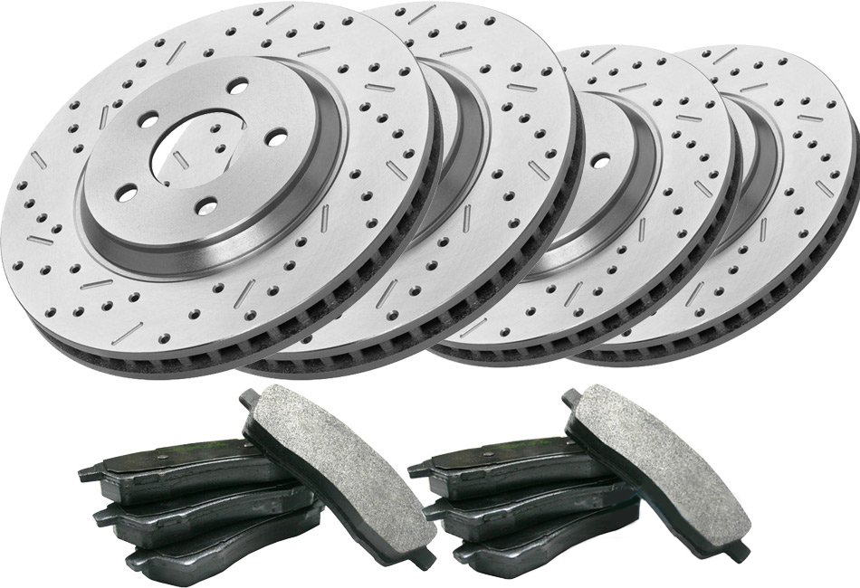 Steeda/Xtreme Mustang GT Front & Rear Brake Kit (1994-1998)