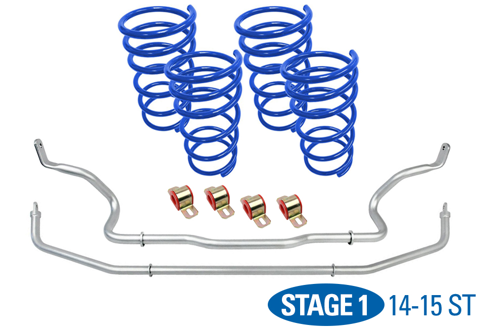 Focus Suspension Packages; Suspension; Looking to upgrade your Focus's suspension? You've come to the right place! Steeda is world-renowned for our suspension and steering components. We offer a wide-range of upgrades, from lowering springs, caster camber plates, sway bars, end links, shocks/s