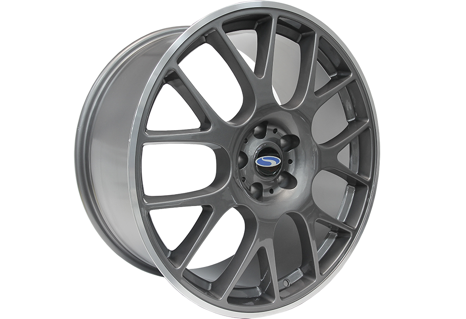 Steeda Mustang ST-R Mesh Wheel - Gunmetal w/ Machined Lip - 20x9.5 (05-17)