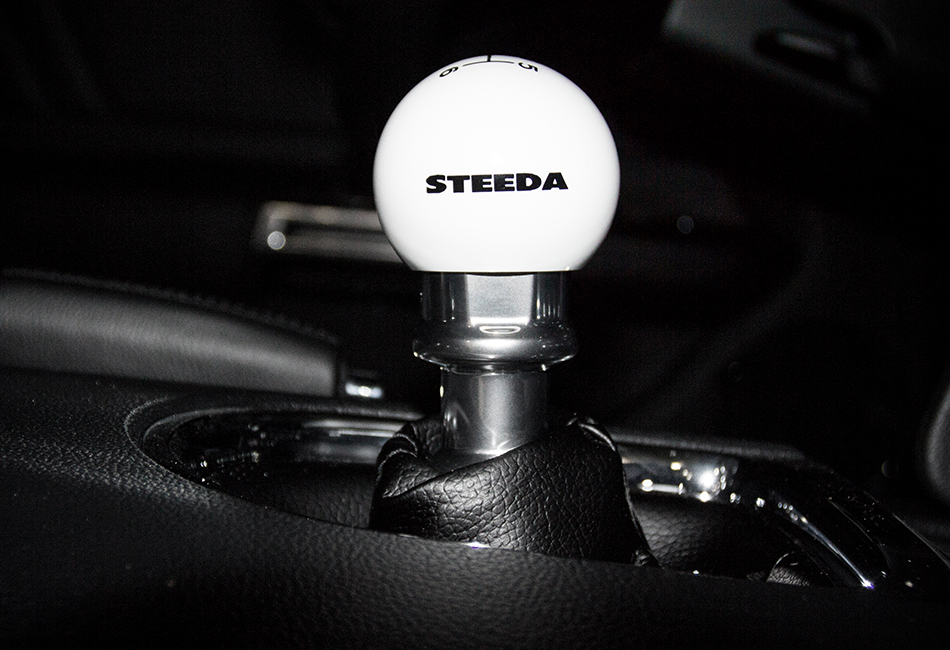 Steeda S550 Mustang 6-Speed White Shift Knob (2015-2020)