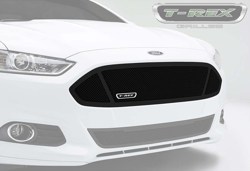 T-Rex Grilles Fusion Upper Class Series 3 Window Opening Black Formed Steel Mesh Grille (13-16 All)
