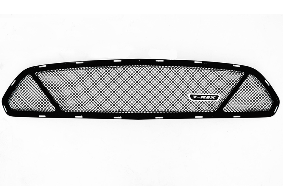 T-Rex Grilles Mustang Upper Class Series 3 Window Opening Black Formed Steel Mesh Grille (15-17 All)