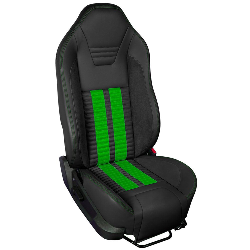 TMI Sport R500 Series Vinyl Mustang Got To Have It Green Airbag Seat Upolstery w/ Seat Foam (2005-2010)