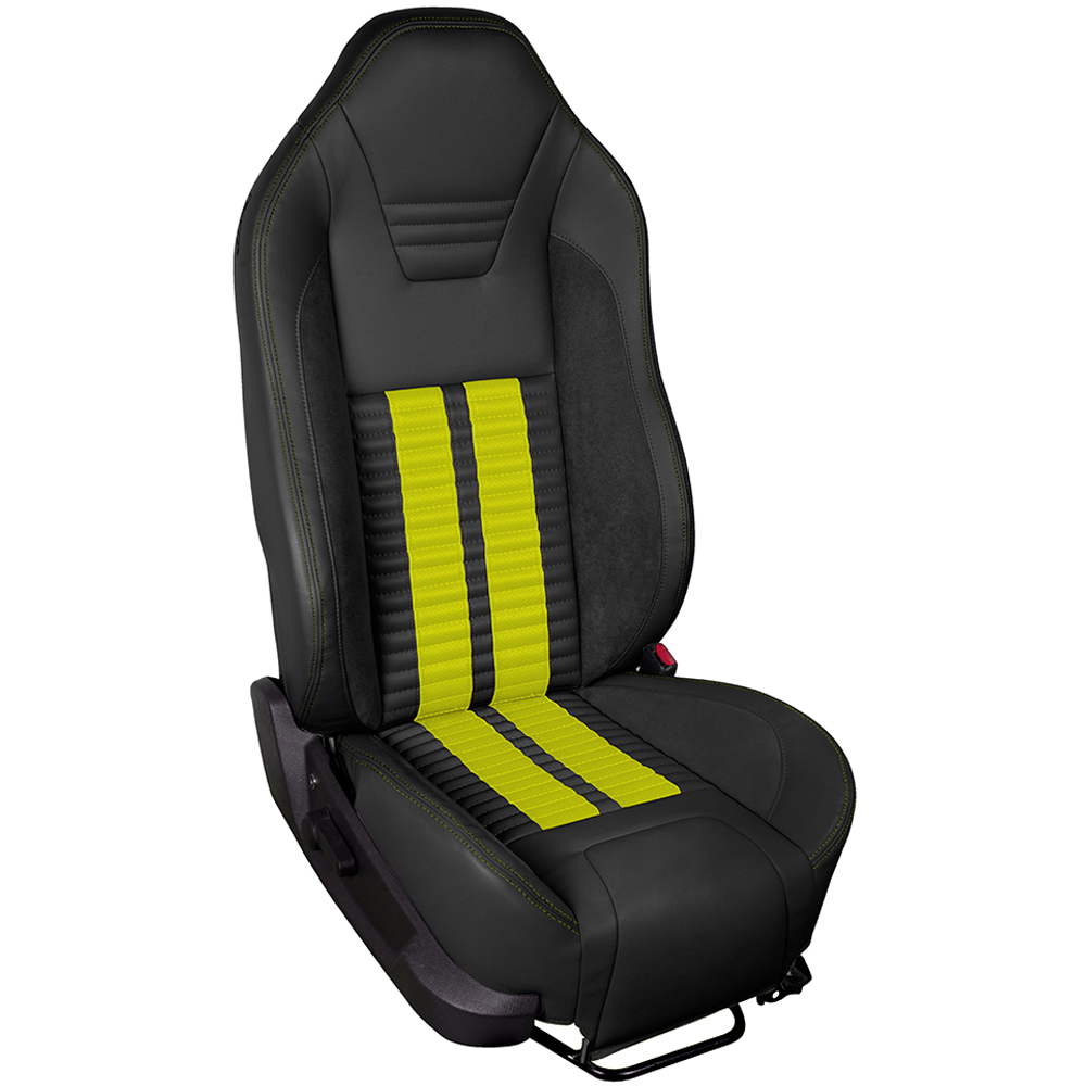 TMI Sport R500 Series Vinyl Mustang Screamin Yellow Airbag Seat Upolstery w/ Seat Foam (2005-2010)