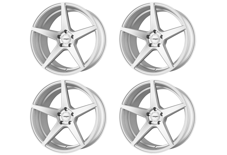 Velgen Wheels Classic5 Matte Silver Staggered Wheel Set - 20x9 and 20x10.5 (05-20 Mustang)