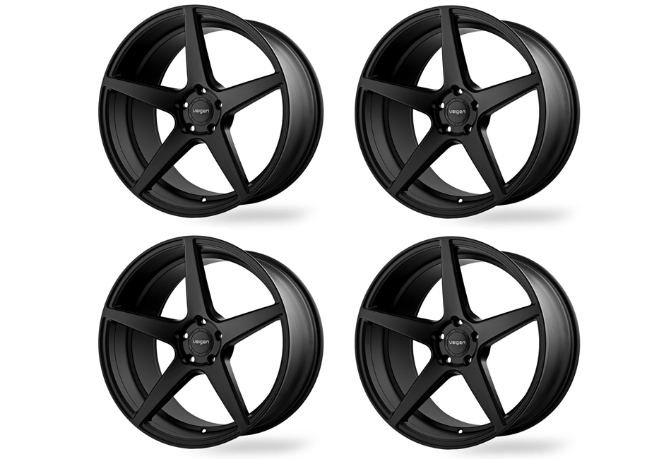 Velgen Wheels Classic5 Satin Black Staggered Wheel Set - 20x9 and 20x10.5 (05-20 Mustang)
