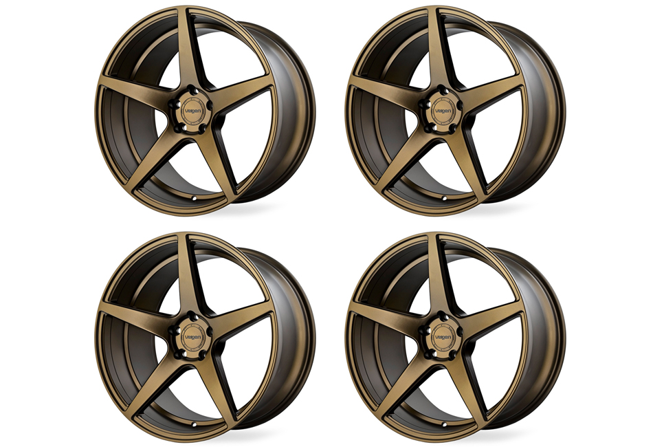 Velgen Wheels Classic5 Satin Bronze Staggered Wheel Set - 20x9 and 20x10.5 (05-20 Mustang)