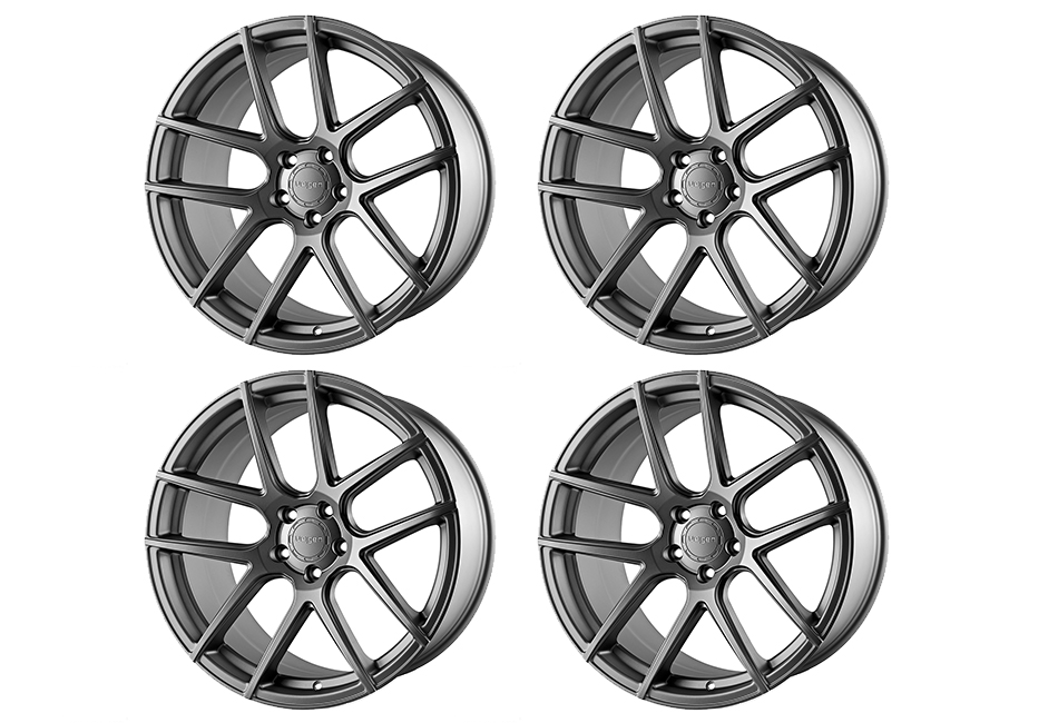 Velgen Wheels VMB5 Matte Gunmetal Staggered Wheel Set - 20x9 and 20x10.5 (05-20)
