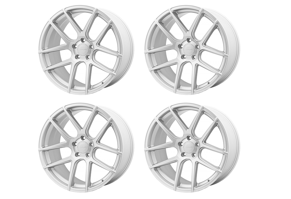 Velgen Wheels VMB5 Matte Silver Staggered Wheel Set - 20x9 and 20x10.5 (05-20)