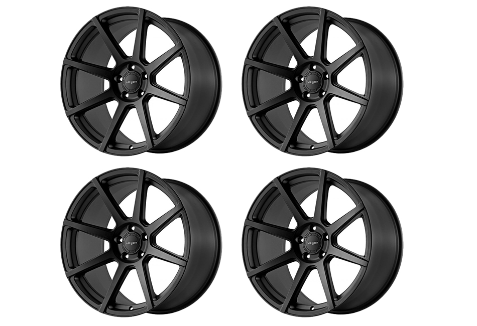 Velgen Wheels VMB8 Satin Black Staggered Wheel Set - 20x9 and 20x10.5 (05-20)
