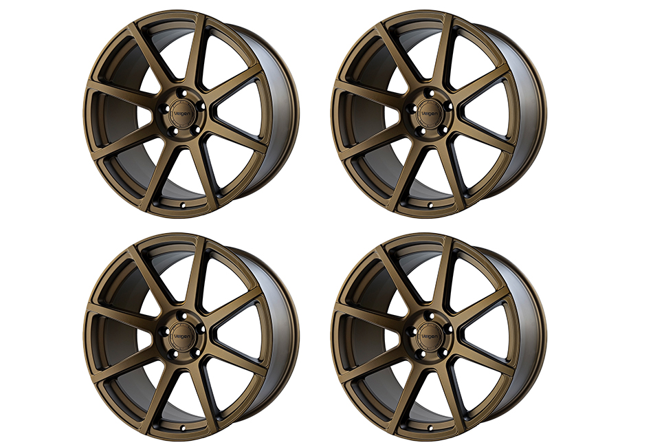 Velgen Wheels VMB8 Satin Bronze Staggered Wheel Set - 20x9 and 20x10.5 (05-20)