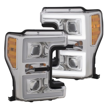 Anzo F-250 Plank Style LED Headlights Chrome (Pair) (2017-2018)