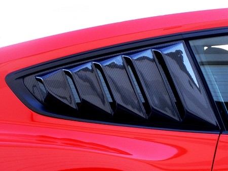 Steeda Mustang Carbon Fiber Rear Quarter Window Louvers (2015-2021)