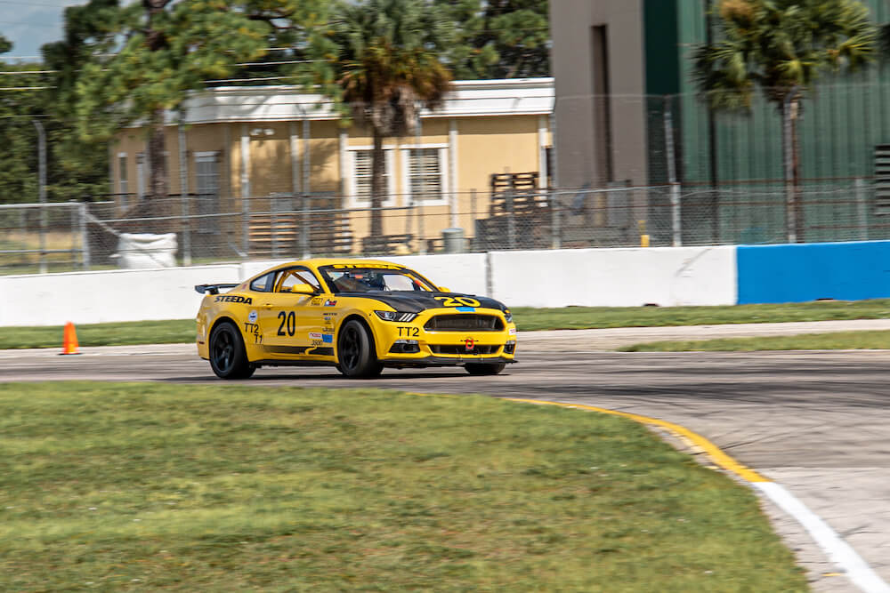2015 Mustang Race Car On Track