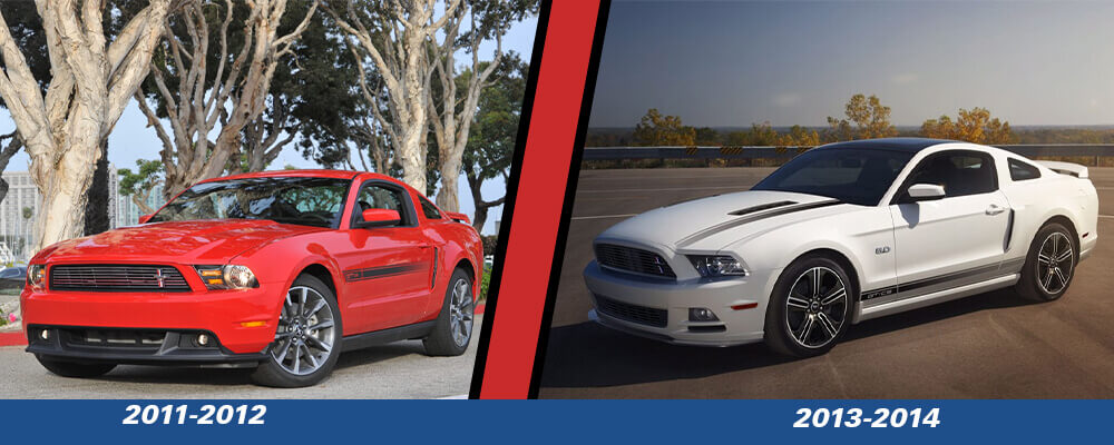 Mustang GT California Special 2011-2014 Comparison