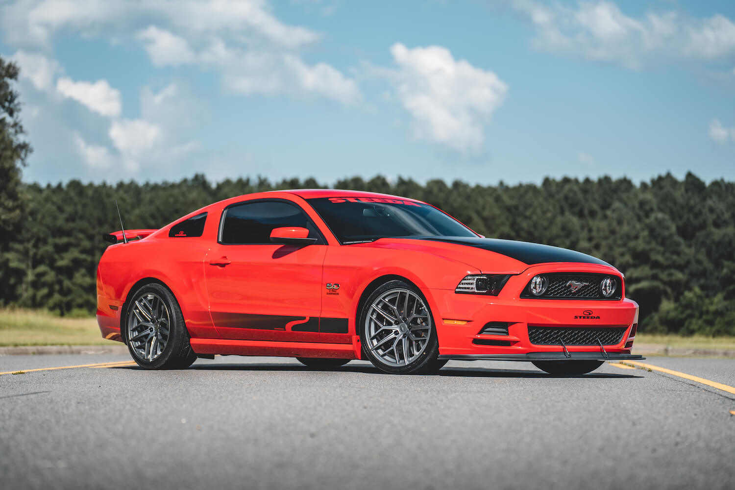 s197 mustang with steeda trident wheel
