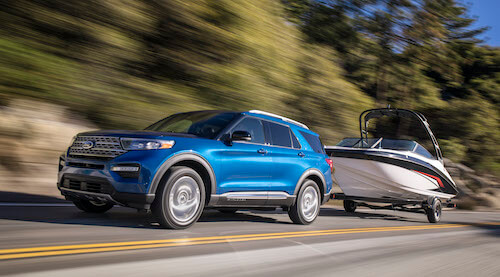 2020 Ford Explorer Towing Boat