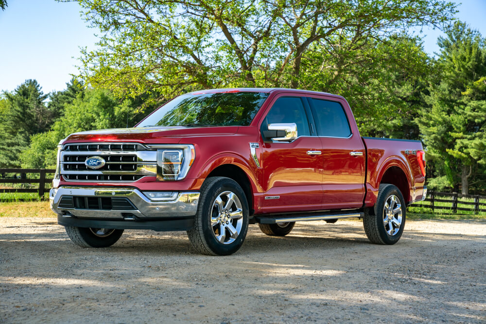 2021 Mustang F-150 Race Red