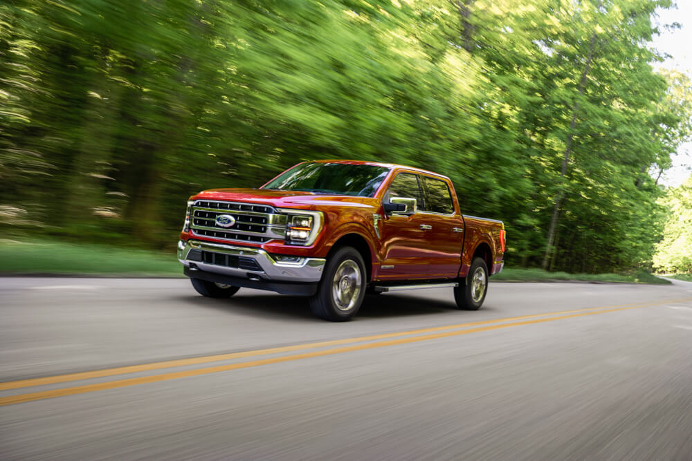 2021 Mustang F-150 Front Quarter