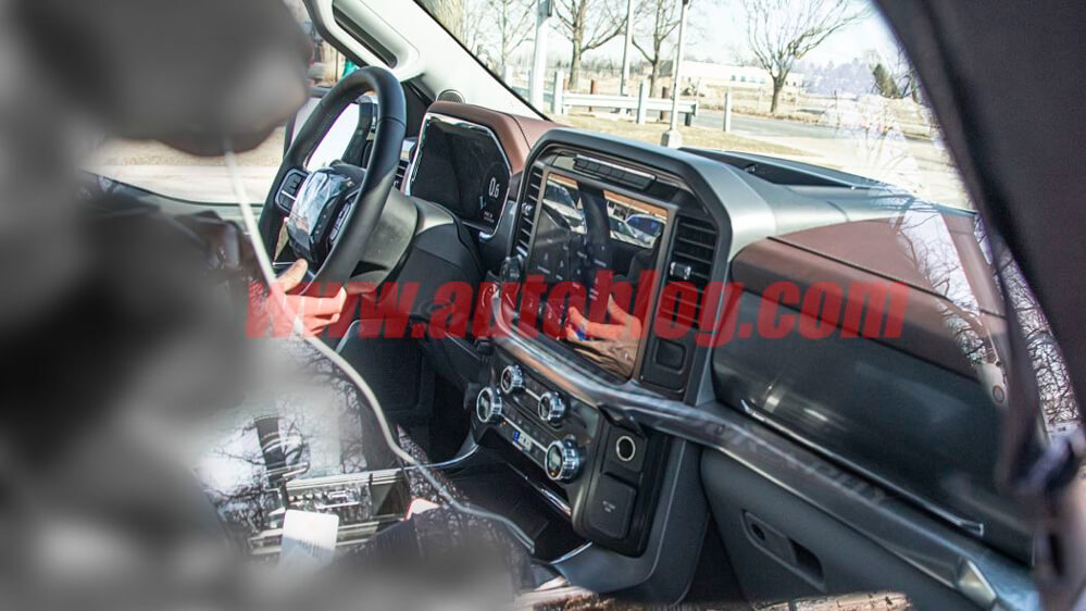 2021 Ford F-150 Interior Spy Shot