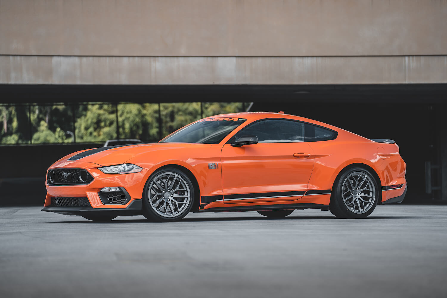 s550 mustang with steeda trident wheel
