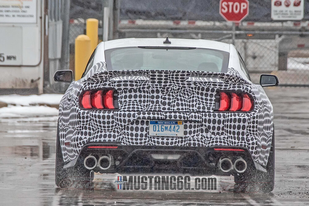 2021 Mustang Mach 1 Rear Spied Exhaust