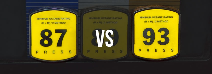 Difference Between 87 and 93 Octane