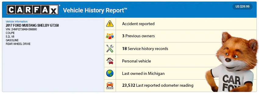 CarFax History Reports